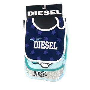 Diesel Baby Bib Set - My First Diesel - Brand New!